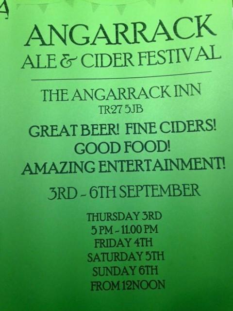 Beer Festival - Thursday September 3rd to Sunday September 6th | Angarrack Inn